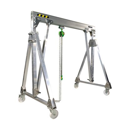folding aluminium gantry crane, movable under load PADC - Me