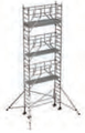 S-PLUS mobile scaffold tower with stabilisers, single platform width Z600 8