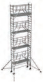 S-PLUS mobile scaffold tower with stabilisers, single platform width Z600 9